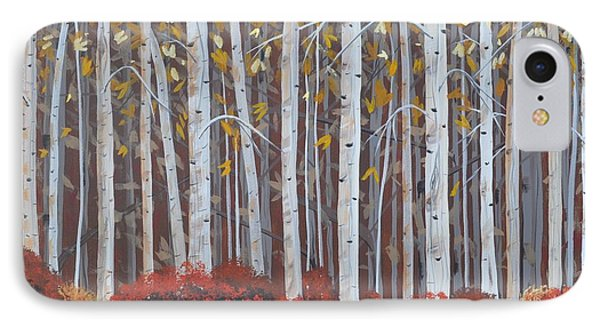 Birches Phone Case by Sally Rice