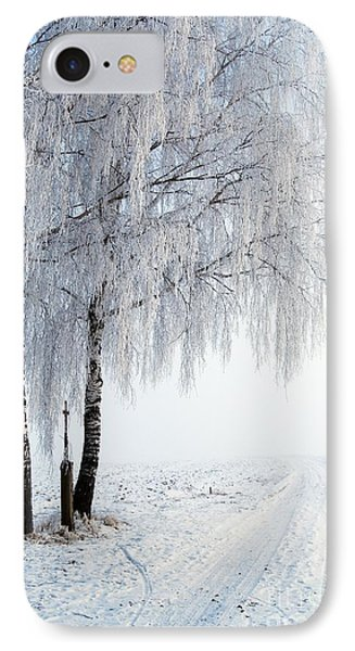 Birches With Wayside Cross IPhone Case