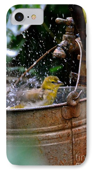 Bird Bath IPhone Case by Carol  Bradley