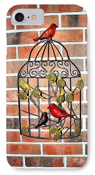 Bird Cage Decor IPhone Case by James Potts