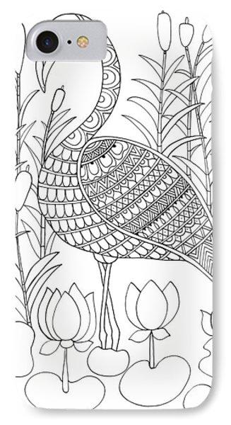 Bird Flamingo IPhone 7 Case by Neeti Goswami