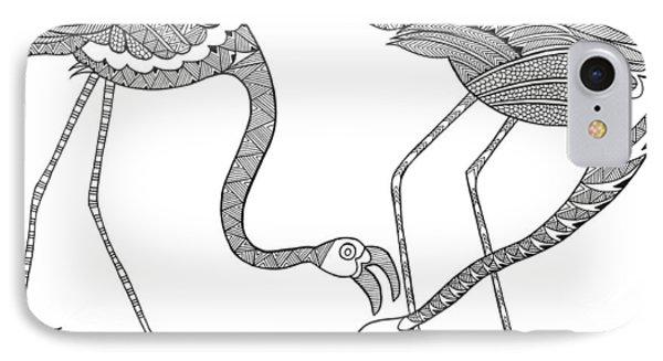Bird Flamingos 2 IPhone 7 Case by Neeti Goswami