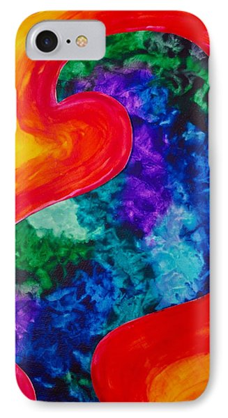 IPhone Case featuring the painting Bird Form I by Michele Myers