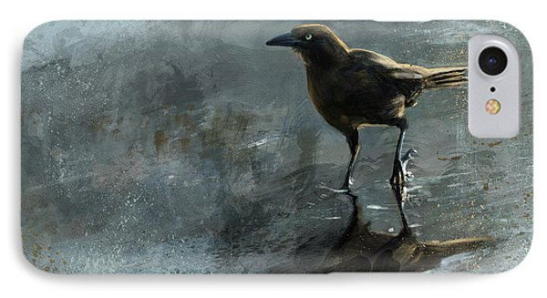 Bird In A Puddle IPhone Case by Steve Goad
