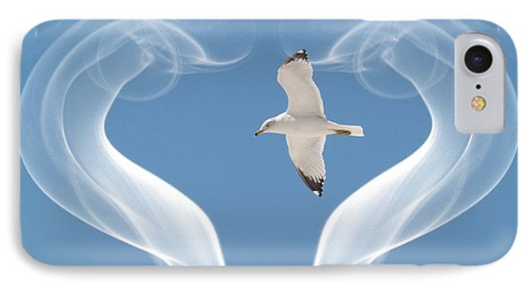 Bird In Flight IPhone Case by Athala Carole Bruckner