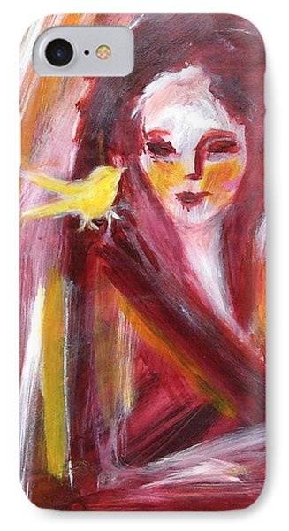 IPhone Case featuring the painting Bird In Hand by Anya Heller
