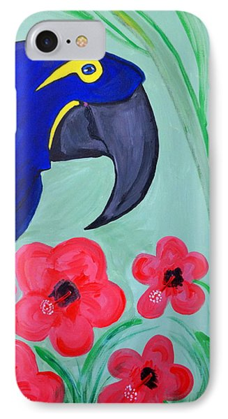 IPhone Case featuring the painting Bird In Paradise   by Nora Shepley