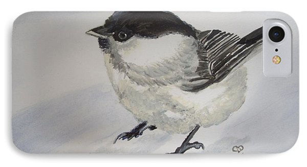 Bird In The Snow IPhone Case by Carole Robins