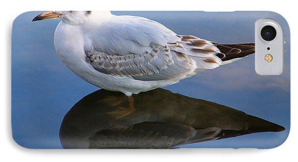 IPhone Case featuring the photograph Bird Reflections by John Swartz