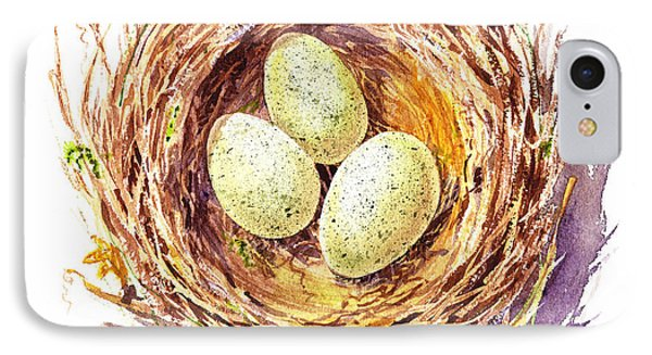 Bird Nest A Happy Trio IPhone 7 Case by Irina Sztukowski