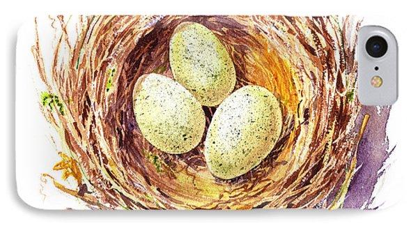 Bird Nest A Happy Trio IPhone Case by Irina Sztukowski