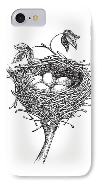 Bird Nest IPhone Case by Christy Beckwith