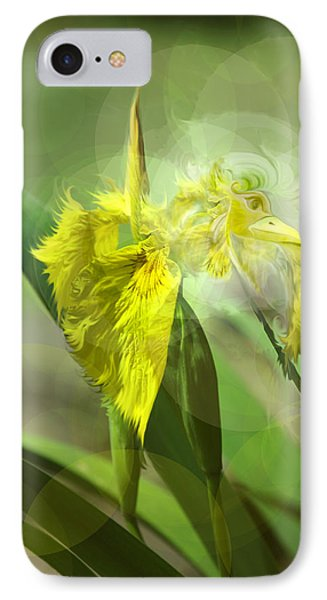 IPhone Case featuring the photograph Bird Of Iris by Adria Trail