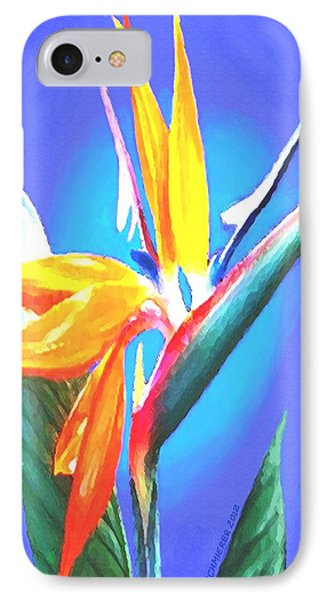 IPhone Case featuring the painting Bird Of Paradise Flower by Sophia Schmierer