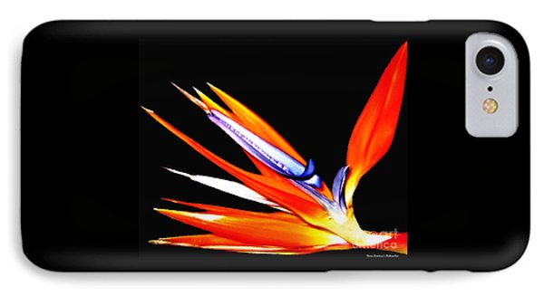 Bird Of Paradise Flower With Oil Painting Effect IPhone Case by Rose Santuci-Sofranko