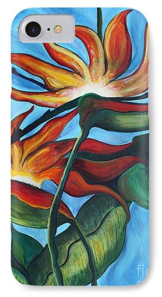 IPhone Case featuring the painting Bird Of Paradise by Jolanta Anna Karolska
