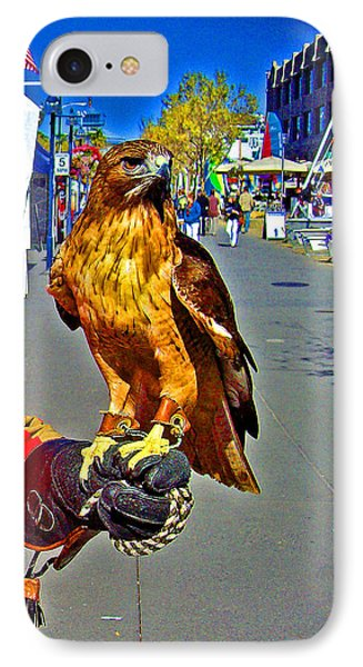 Bird Of Prey At Boat Show 2013 Phone Case by Joseph Coulombe