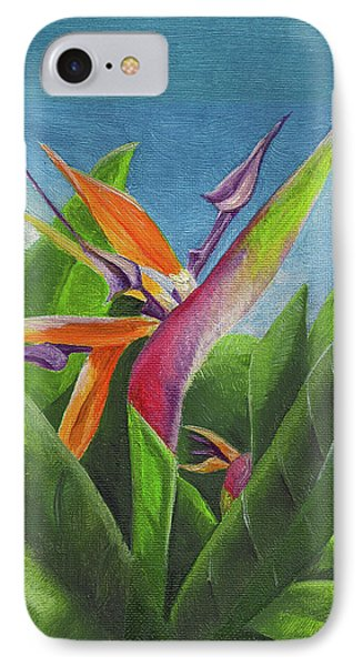 IPhone Case featuring the painting Hawaiian Bird Of Paradise by Thomas J Herring