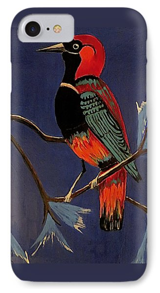 IPhone Case featuring the painting Bird On A Branch by Kathleen Sartoris