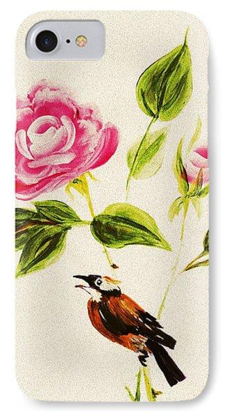 Bird On A Flower IPhone Case by Anastasiya Malakhova