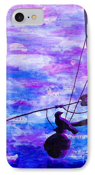 Bird On A Wire IPhone Case by Melissa Sherbon