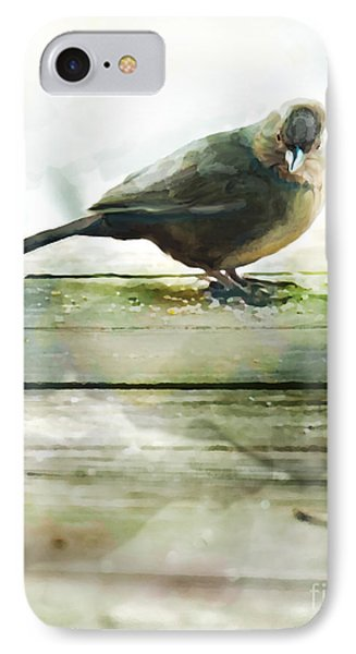 Bird On The Deck Phone Case by Artist and Photographer Laura Wrede