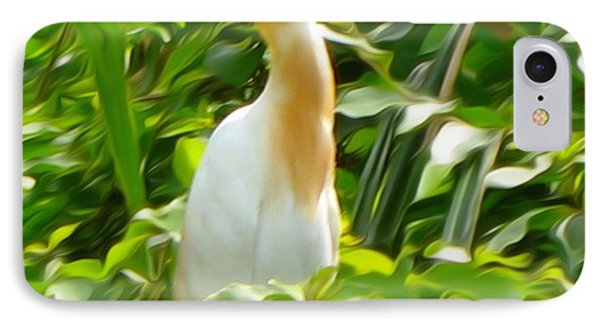 Egret IPhone Case by Art Spectrum