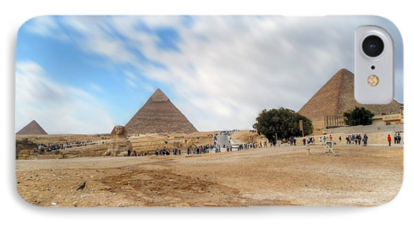Bird Sphinx And Pyramids Phone Case by Karam Halim