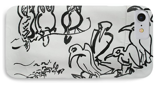 Bird Talk Phone Case by Godfrey McDonnell