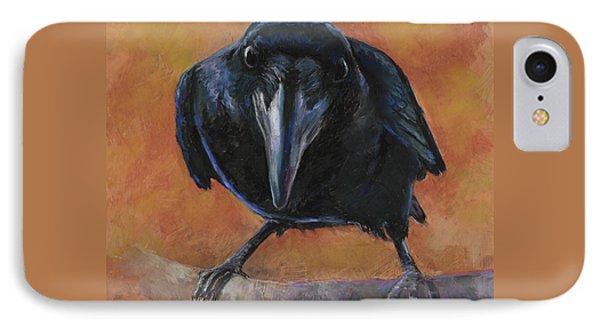 Blackbird iPhone 7 Case - Bird  Watching by Billie Colson