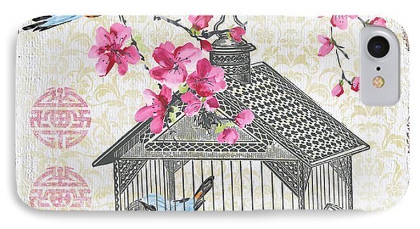 Birdcage With Cherry Blossoms-jp2611 IPhone Case
