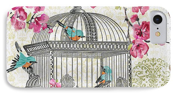 Birdcage With Cherry Blossoms-jp2612 IPhone Case