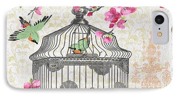 Birdcage With Cherry Blossoms-jp2613 IPhone Case