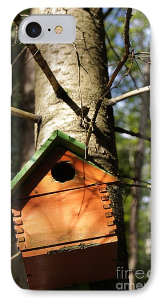 Birdhouse By Line Gagne Phone Case by Line Gagne