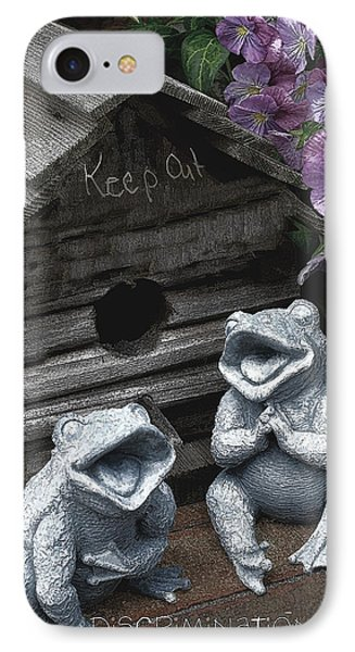 Birdhouse With Frogs Phone Case by Bonnie Willis