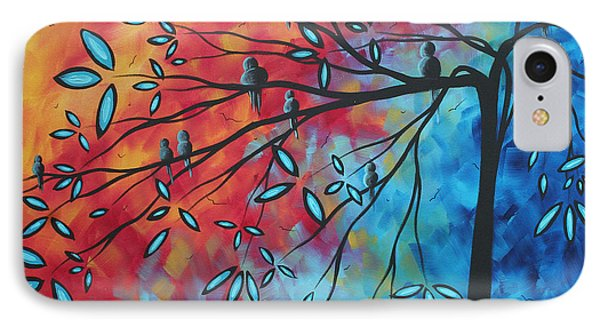 Birds And Blossoms By Madart Phone Case by Megan Duncanson
