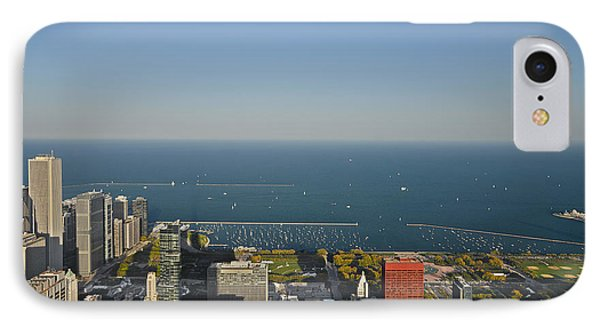 Bird's Eye View Of Chicago's Lakefront Phone Case by Christine Till