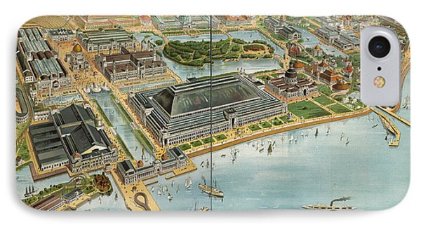 Bird's Eye View Of The World's Columbian Exposition Chicago 1893 IPhone Case by Edward Fielding