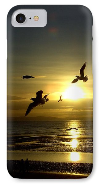 Birds Gathering At Sunset IPhone Case