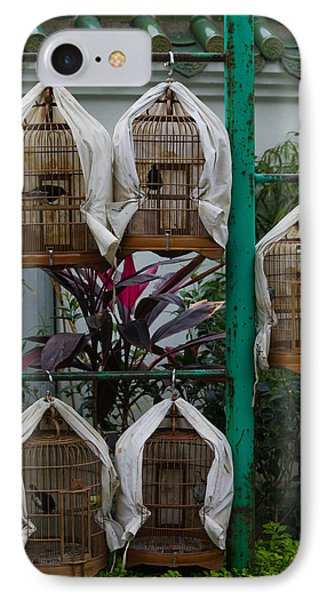 Birds In Cages For Sale At A Bird IPhone Case by Panoramic Images