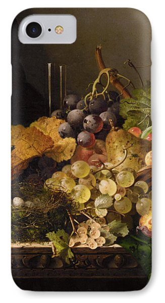 Birds Nest Butterfly And Cherries Phone Case by Edward Ladell