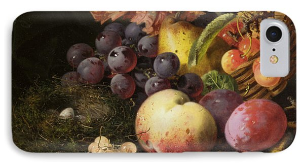 Birds Nest Butterfly And Fruit Basket Phone Case by Edward Ladell