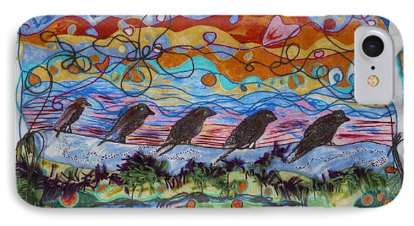 Birds Of A Feather 1 Phone Case by Heather Hennick