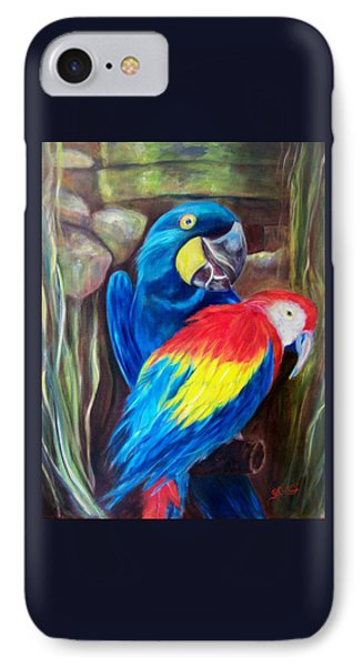 Bird's Of A Feather, Macaws IPhone Case