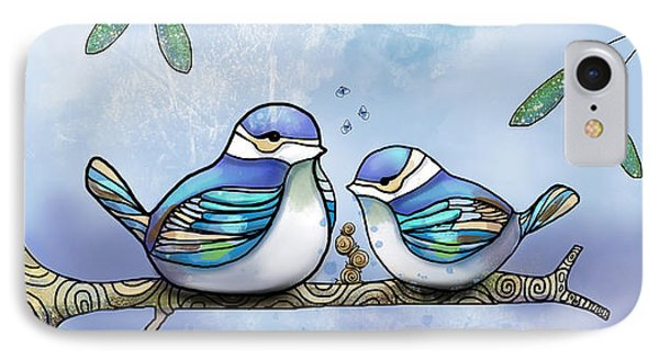 Birds Of Blue Phone Case by Karin Taylor