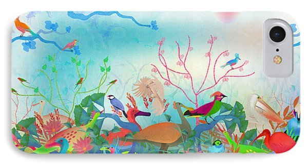 Birds Of My Landscapes - Limited Edition  Of 15 IPhone Case by Gabriela Delgado