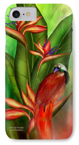 Birds Of Paradise Phone Case by Carol Cavalaris
