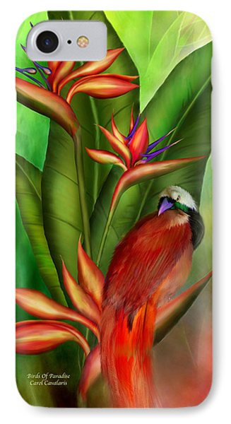 Birds Of Paradise IPhone Case by Carol Cavalaris