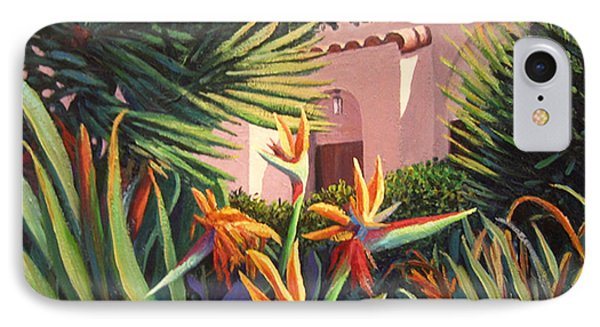 IPhone Case featuring the painting Birds Of Paradise Garden by Cheryl Del Toro