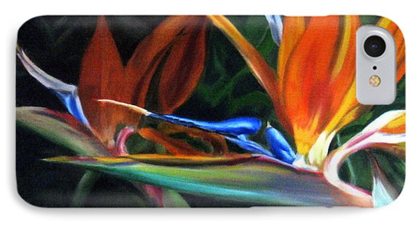 IPhone Case featuring the painting Birds Of Paradise by LaVonne Hand